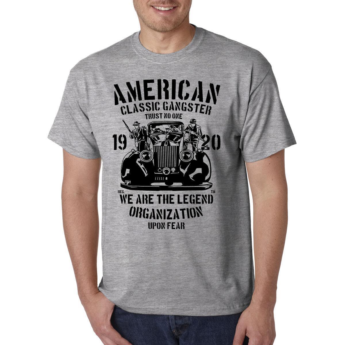 Compre American Gangster Classic Camiseta Mafia Mob Crime Boss Familia La  Cosa Nostra A  12.05 Del Yg09tshirt  f6cb941da5a16