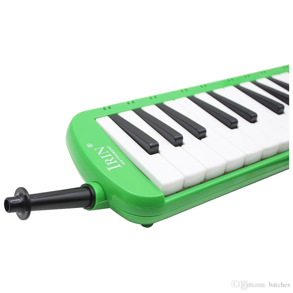 2 PCS of (37 Melodica Keys Melodic Musical Instrument with Carrying Bag for Students Beginners Kids Green)