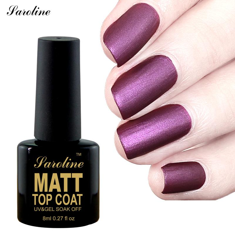 Saroline Matte Nail Polish Top Coat Durable Semi Permanent ...