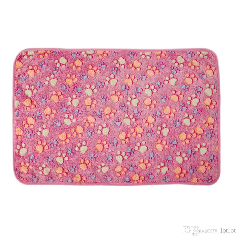 المرجان الصوف الحيوانات الأليفة بطانية لينة اللمس الشتاء الدافئ الكلاب القط سرير الكلاب 60x40 سنتيمتر / 20x20 سنتيمتر