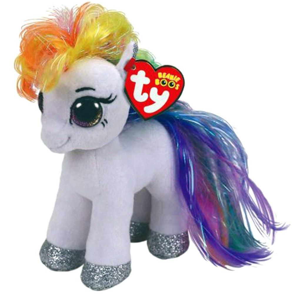 d2b9e07ef37 Pyoopeo Ty Beanie Boos 6 15cm Starr the Pony Plush Regular Big-eyed ...