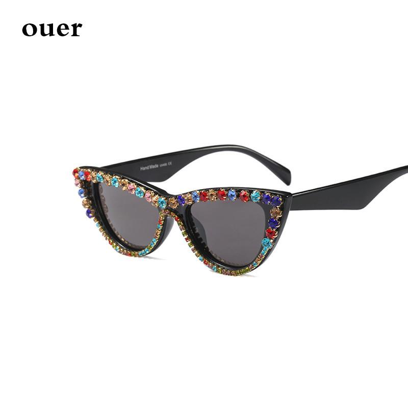 Compre Ouer Moda Olho De Gato Óculos De Sol Das Senhoras De Luxo Pequeno  Quadro De Strass Cor Diamante Óculos De Sol Das Senhoras Tendência Óculos  UV400 De ... 612f756578