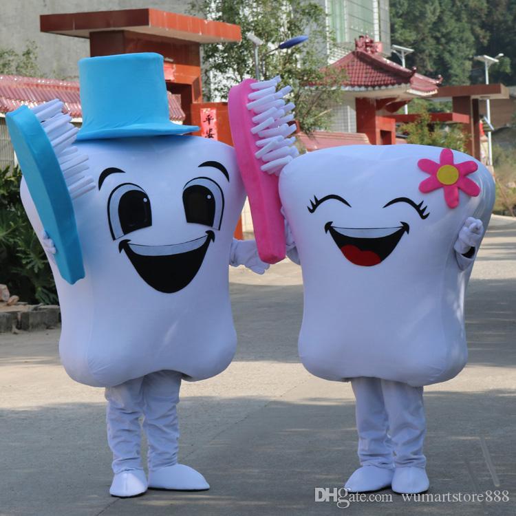 Acquista denti mascotte costumi tema animato spazzolino cospaly