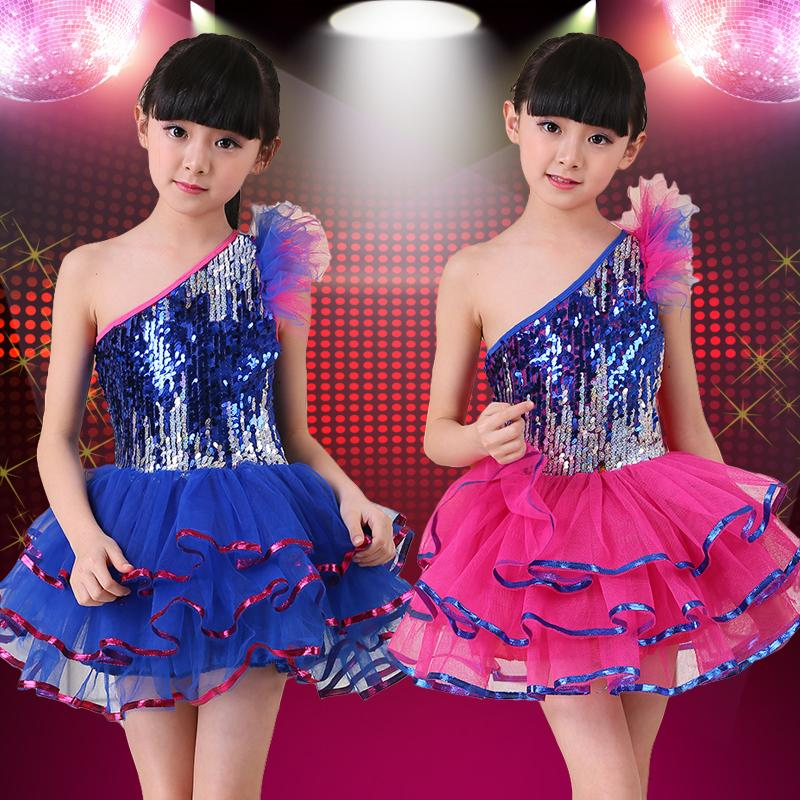 c132e53d6e37c Compre Nuevos Trajes Para Niños Jazz Dance Clothes Para Niñas Dance Suit  Kids Costumes Vestidos De Velo De Lentejuelas A  57.96 Del Odelettu