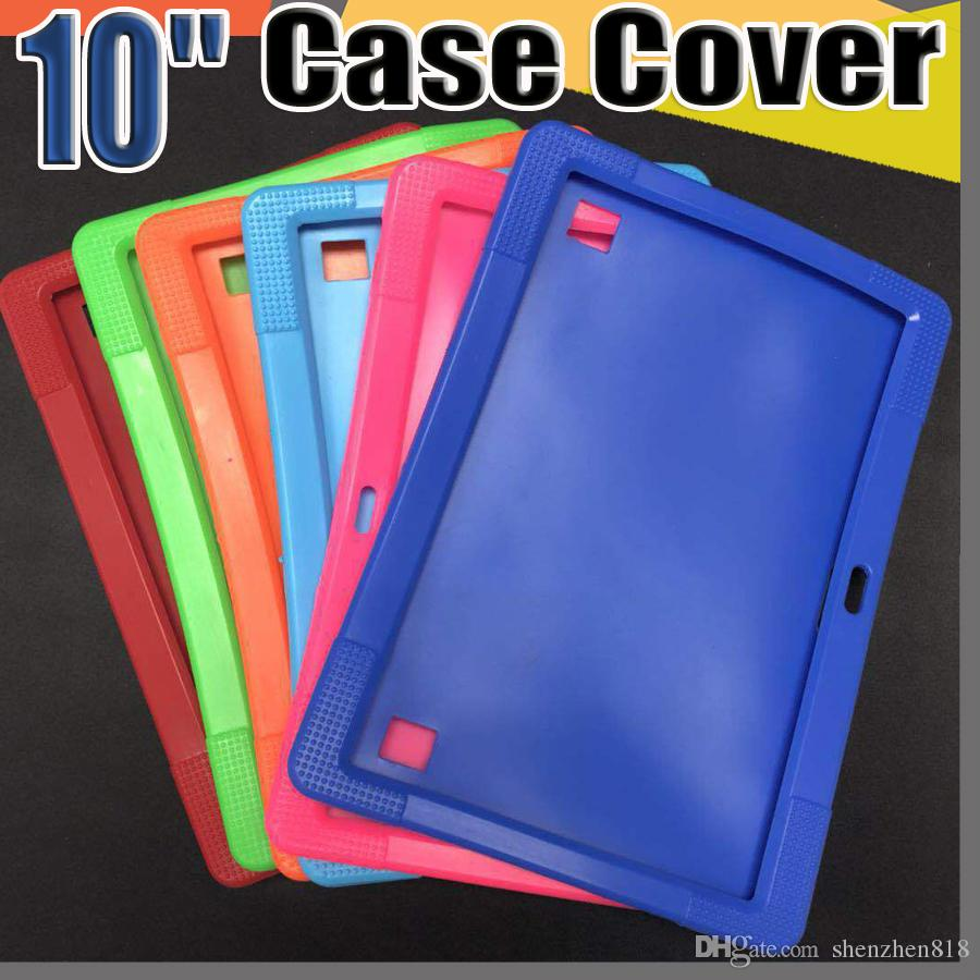 "Cheapest 50pcs Anti Dust Kids Child Soft Silicone Rubber Gel Case Cover For 10"" 10.1 Inch A83T A33 A31S Android Tablet pc MID Free DHL"