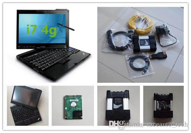 diagnostic tools for bmw icom next with laptop x201t i7 4g touch screen expert mode ista-d ista-p hdd 500gb ready to use