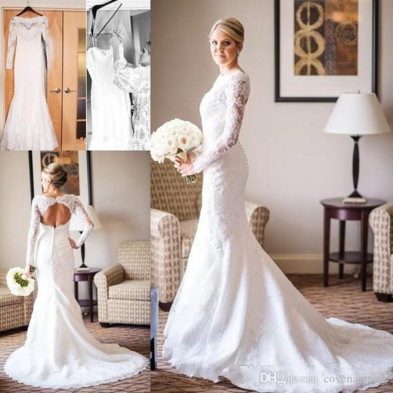 Modest Long Sleeve Wedding Dresses