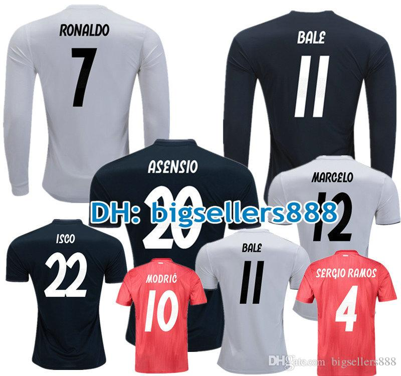 42f21247a22 2019 ASENSIO MODRIC 18 19 Real Madrid Soccer Jersey Long Sleeves CR7  BENZEMA BALE KROOS RAMOS ISCO NAVAS Football Shirt RONALDO VINICIUS JR From  ...
