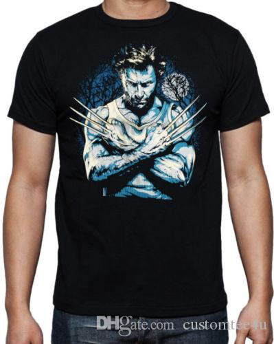 b0fd7e2ef9d97 Wolverine X Men Lurking Logan Factory Outlet T Shirt T Shirt Men Boy 2017  Short Sleeve Crewneck Cotton Plus Size Group T Shirts A Tee Shirt And T  Shirt From ...
