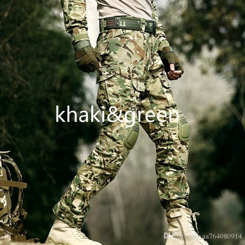 d8cdf5ac1996d 2019 Mens Multicam Camouflage Militar Tactical Pants Multi Pockets Military  Digital Camo Outdoor Combat Pants With Knee Pads From Aa764080914, ...