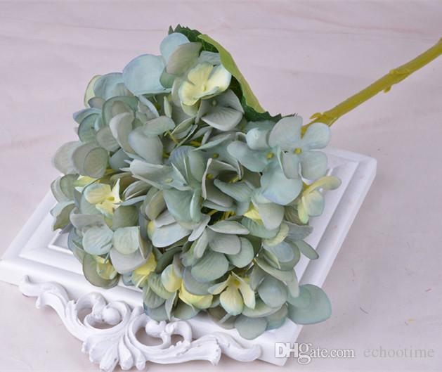 Beautiful Artificial Hydrangea Flower Fake Silk Single Real Touch Hydrangeas for Wedding Centerpieces Home Party Decorative Flowers