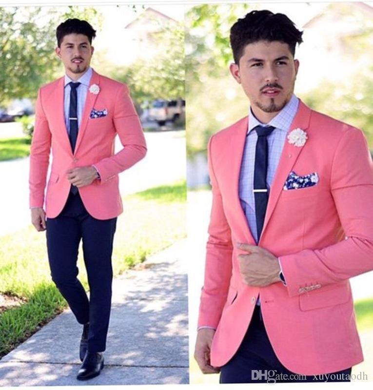 Acheter Custom Made Hommes Costumes 2018 Rose Costumes De Mariage  Décontracté Marié Beau Meilleur Homme Blazer Slim Fit Affaires Groom Porter  Prom 2 Pièces ... a3902731860