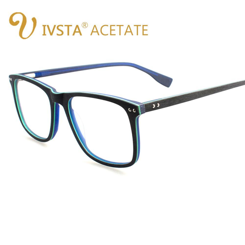 ccff676d61 Compre IVSTA Gafas De Madera Hechas A Mano Hombres Gafas De Madera Cuadrado Gafas  De Miopía Gafas Ópticas Marcos De Acetato Gran Tamaño A $28.28 Del Haroln  ...