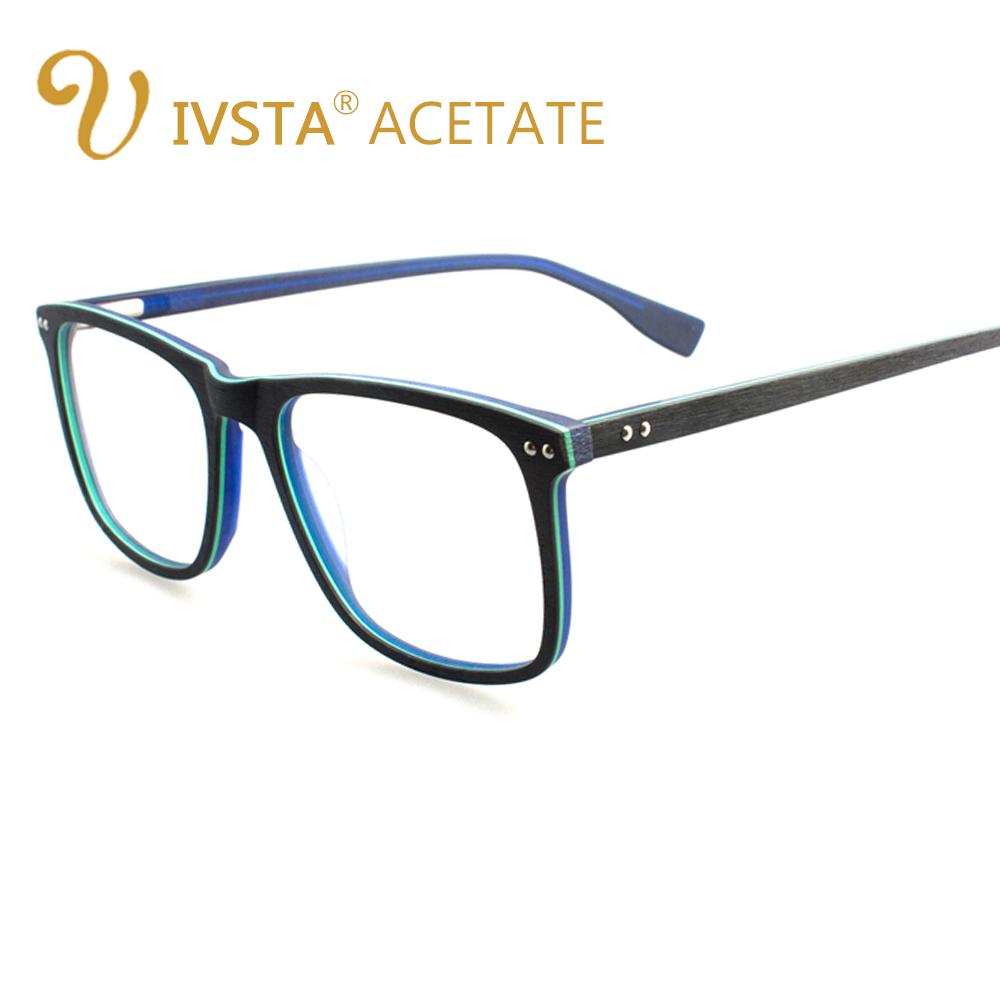 016a77a67b IVSTA Handmade Wooden Eyeglasses Men Wood Glasses Square Spectacle ...