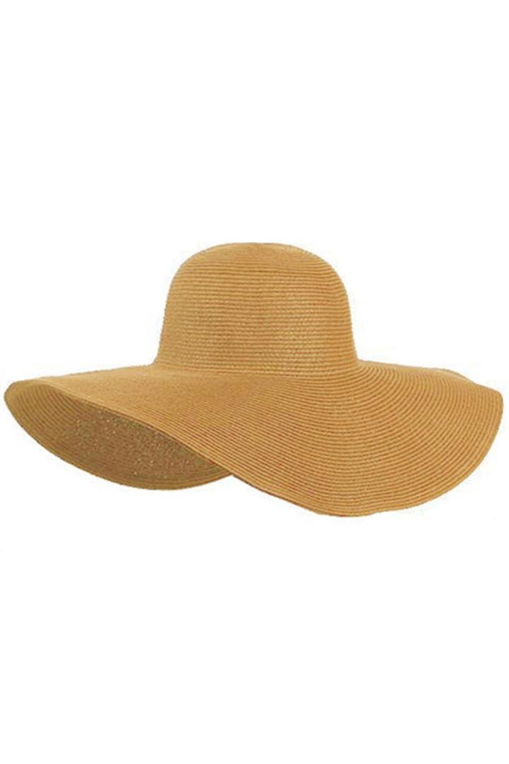 Women Cute Summer Straw Beach Hat Wide Large Brim Foldable Sun Hat Khaki Sun  Hats Sun Hat From Hermane d64a3eae4b3