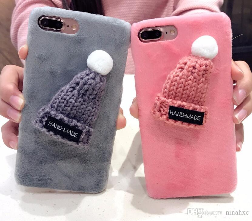 buy online 2c485 0d9ec 2018 New Cute 3D Hat Phone Case For Samsung Galaxy S8 Plus S7 S6 Edge For  iPhone 8 Plus 7 6 6S X Protective Back Cover