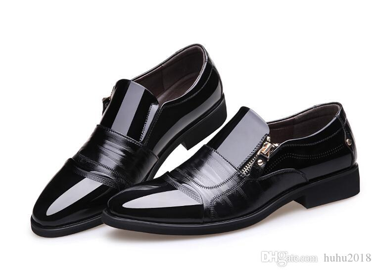 New Luxury Brand Classic Man Pointed Toe Dress Shoes Mens Patent Leather  Black Wedding Shoes Oxford Formal Shoes Leather Shoes Moccasins For Men  From ... f986f90f3400