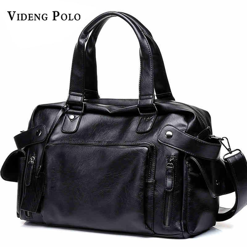 68cf9564ce VIDENG POLO Brand High Quality Men Travel Bag Leather Leisure Male ...