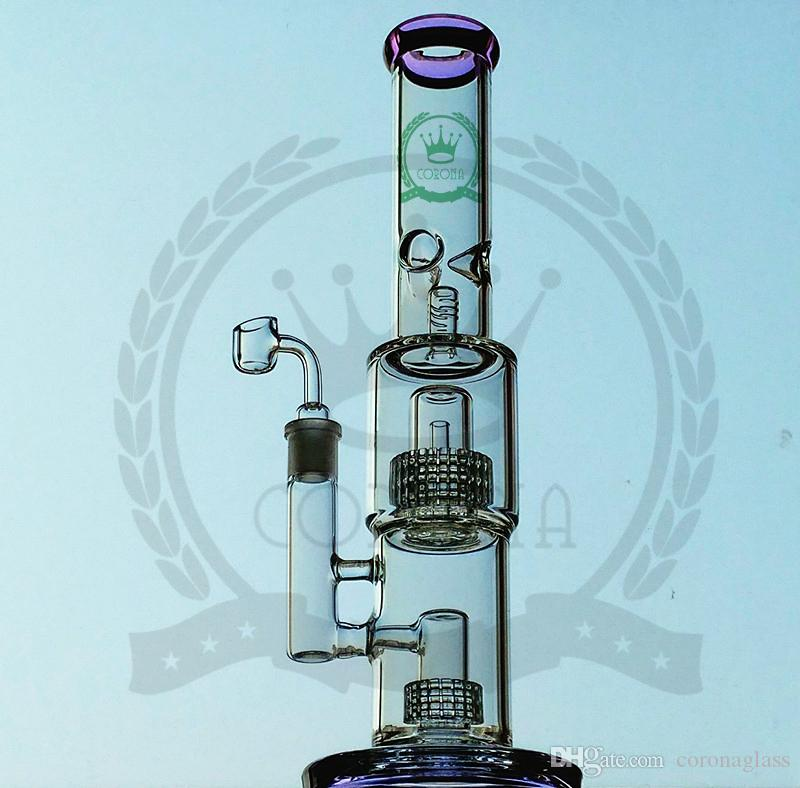 Bong New Design nails Bongs Glass Water Pipes Bongs Pyrex Water Bongs with Colorful Lips 18mm Joint Beaker Bong Water Pipes Oil Rigs Bong