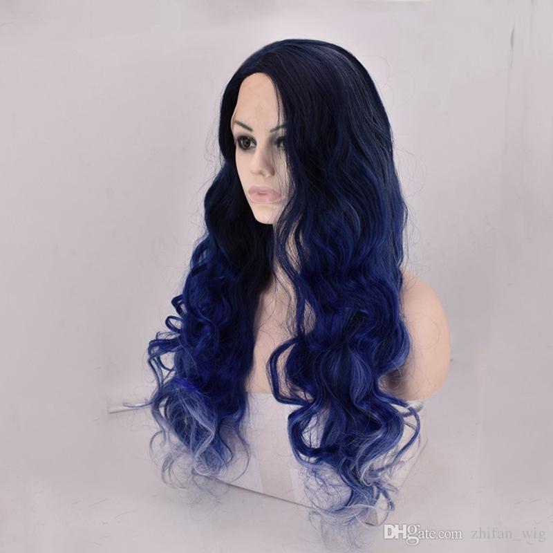 ZF Brand New Front Lace peluca de 22 pulgadas Long Big Body Wave pelucas de cabello humano para mujeres