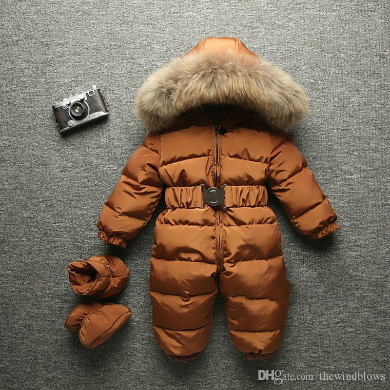77bdaab22 2018 Winter Baby Warm Romper Infant Children Snowsuit Outerwear ...