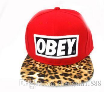 07c60b730ef8cd ... czech leopard obey hat snapback adjustable bboy hip hop hat hiphop  baseball cap flat hat.