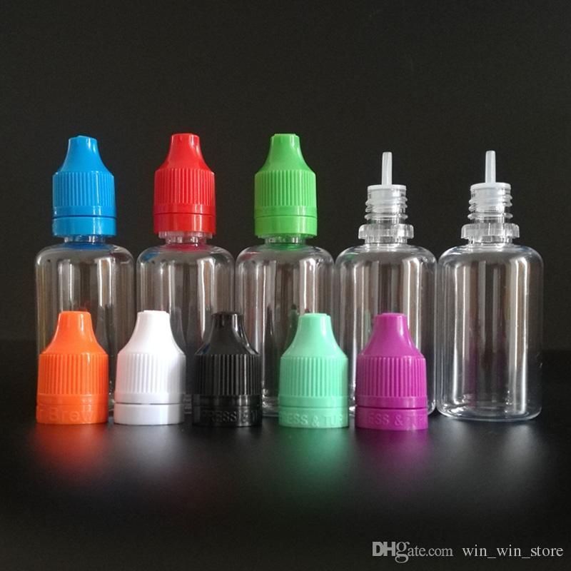 E 액체 병 PE 바늘 팁 30 ml 애완 동물 플라스틱 Dropper 병 조작 Tamper Evident Child Pro Caps E- 담배에 대 한 빈 E- 액체 석유 병