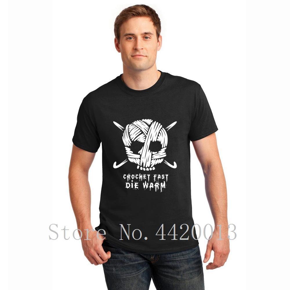 950eb5d12 crear algodón Tamaño del euro S-3xl divertido crochet crochet fast die warm  Normal Nuevo estilo Estilo de verano Normal HipHop Top camiseta para ...