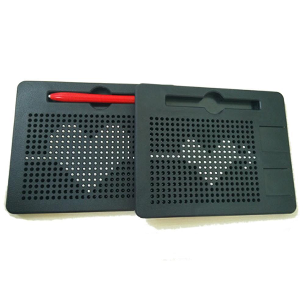 Mini Writing Memo Board Magnetic Tablet Magnet Pad Drawing Board Bead Magnet Stylus Pen Kids Intelligence Learn Educational Toys