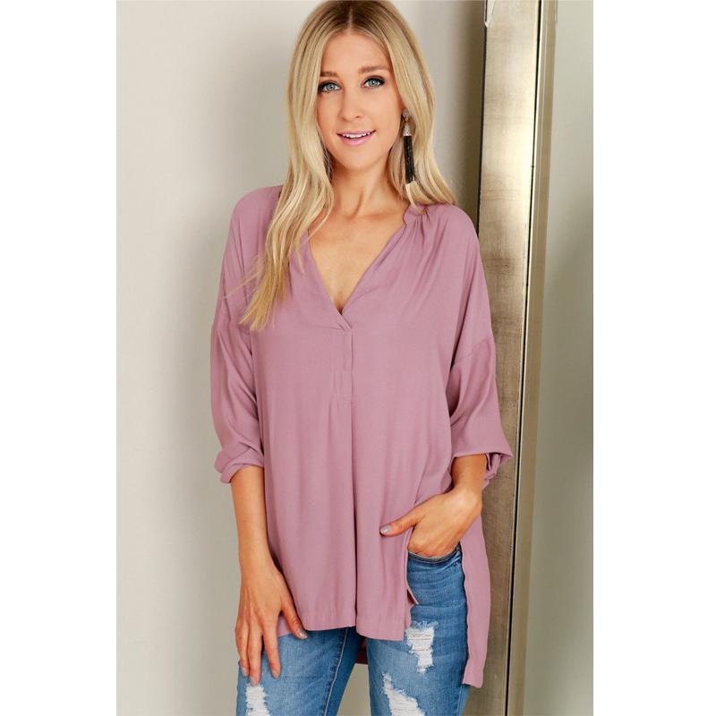 74947d9f08c 2019 Fashion Summer Women Casual Chiffon Long Sleeve V Neck Loose Back Long  Length Show Thin Solid Shirt Tops 4 Style From Liasheng10, $23.94 |  DHgate.Com