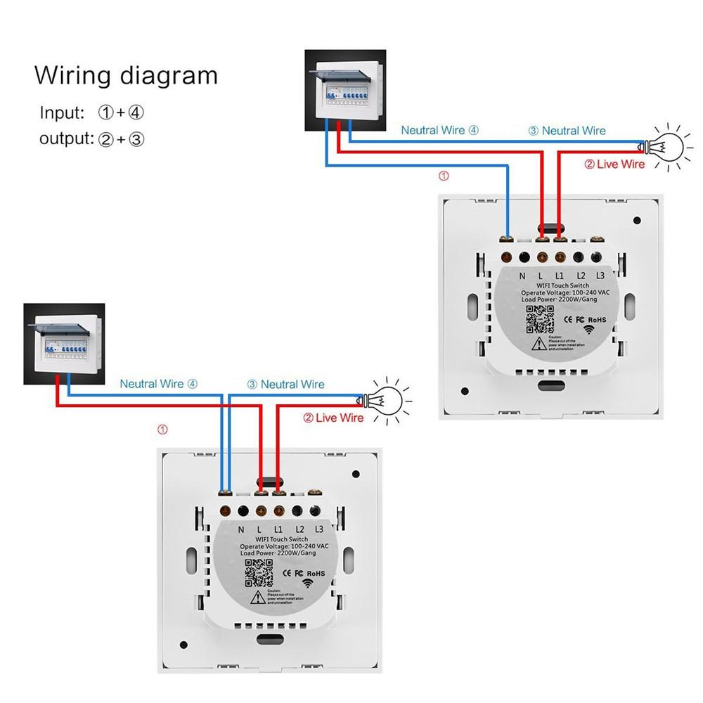 Touch switch wiring diagram wiring diagram three pole switch wiring diagram alexa smart wifi touch switch mobile app wireless remote intelligentalexa smart wifi touch switch mobile app
