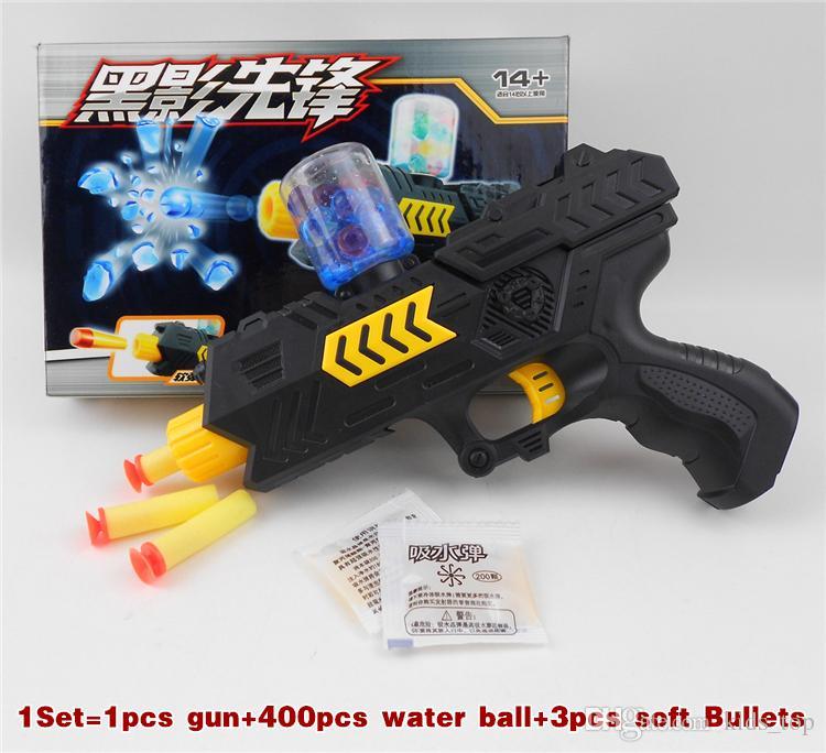 Pistola de agua para niños juguetes Pistola de plástico modelo juguetes Agua Cristal Pistola de Paintball Suave Bala Suave CS Agua Crystal Gun Niños Regalos LA485