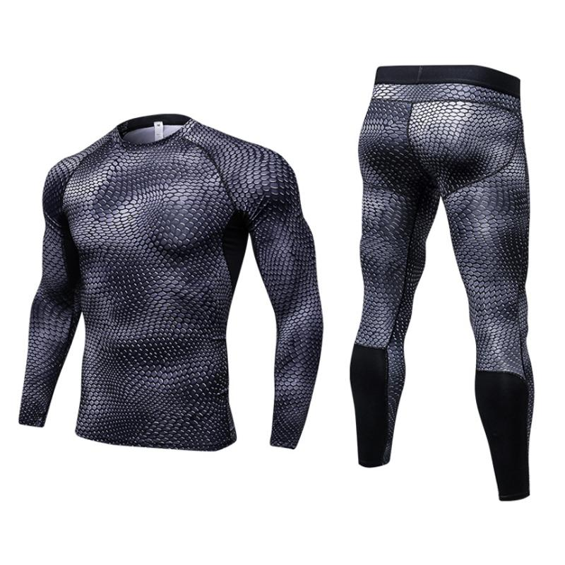 07f59e1d50 Men Sport Running Sets Breathable Quick Dry Jogging Tees Fitness ...