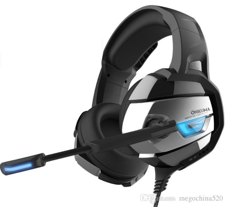 Professional Gaming Headphone ONIKUMA K5 HD Game Headset LED Light With  Microphone USB 7 1 Channel for LOL DOTA CS CF Esports