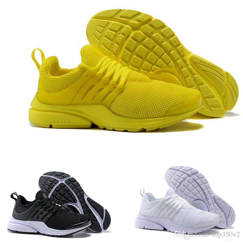 more photos b3409 b2759 2019 2018 New PRESTO BR QS Breathe Yellow Black White Mens Prestos Shoes  Sneakers Women,Running Shoes For Men Sports Shoe,Walking Designer Shoes  From ...