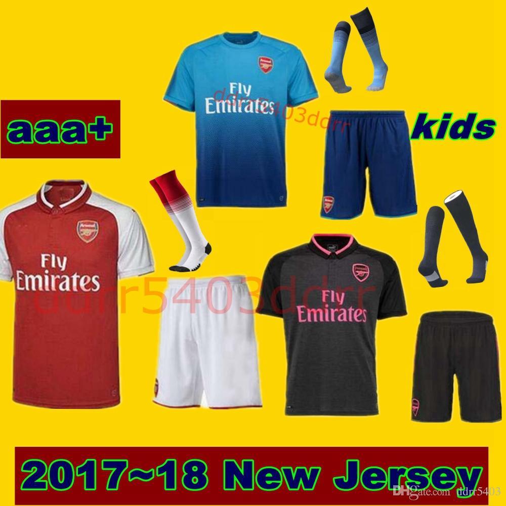 Compre Descuento Baratos 17 18 Nuevos Niños Kit 9 lacazette 7 Alexis Thai  Camisetas De Fútbol De Calidad Tops Varios 24 Bellerin 8 Ramsey 11 Ozil ... 3a70c662aaac7