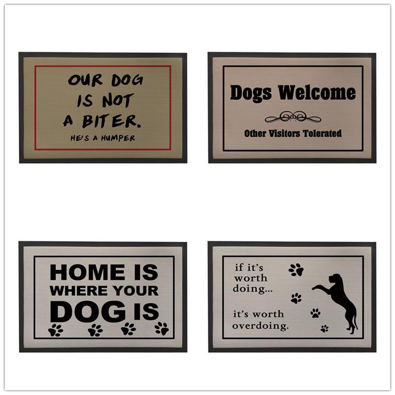 Dog Welcome Door Mats Outdoor,Vintage Doormat For Entrance Door,Rubber Floor Mat For Bathroom,Grey Kitchen Carpet,Kids Room Rug Fall Outdoor Pillows ...