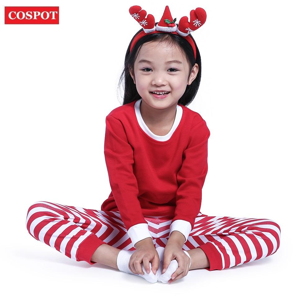 5640654bc Cospot Baby Sleepwear Boys Girls Christmas Pajamas Kids Long Sleeve ...