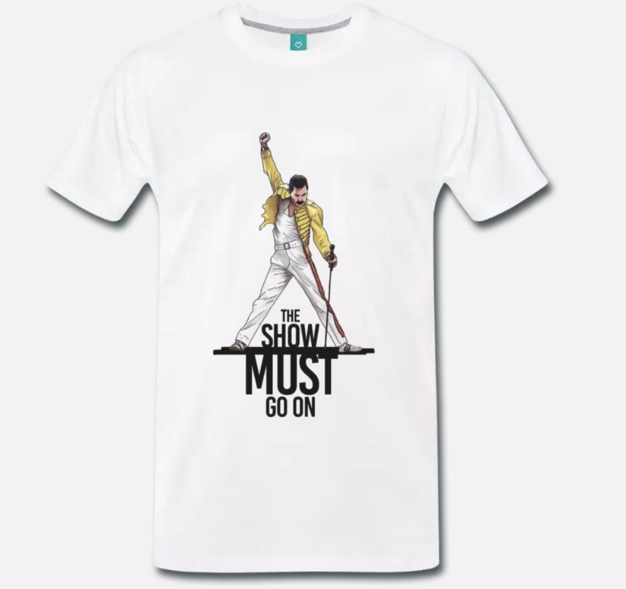 c995949d T SHIRT MAGLIA QUEEN TESTO THE SHOW MUST GO ON FREDDIE MERCURY ROCK 1 S M L  XL As T Shirt Online T Shirts Buy From Perfecttshirts34, $11.63| DHgate.Com