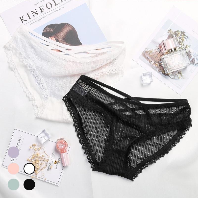 2018 New Women s Underwear Lace Openwork Seamless Low Waist Briefs Sexy  Transparent Online with  7.66 Piece on Xynm s Store  339c93c3b