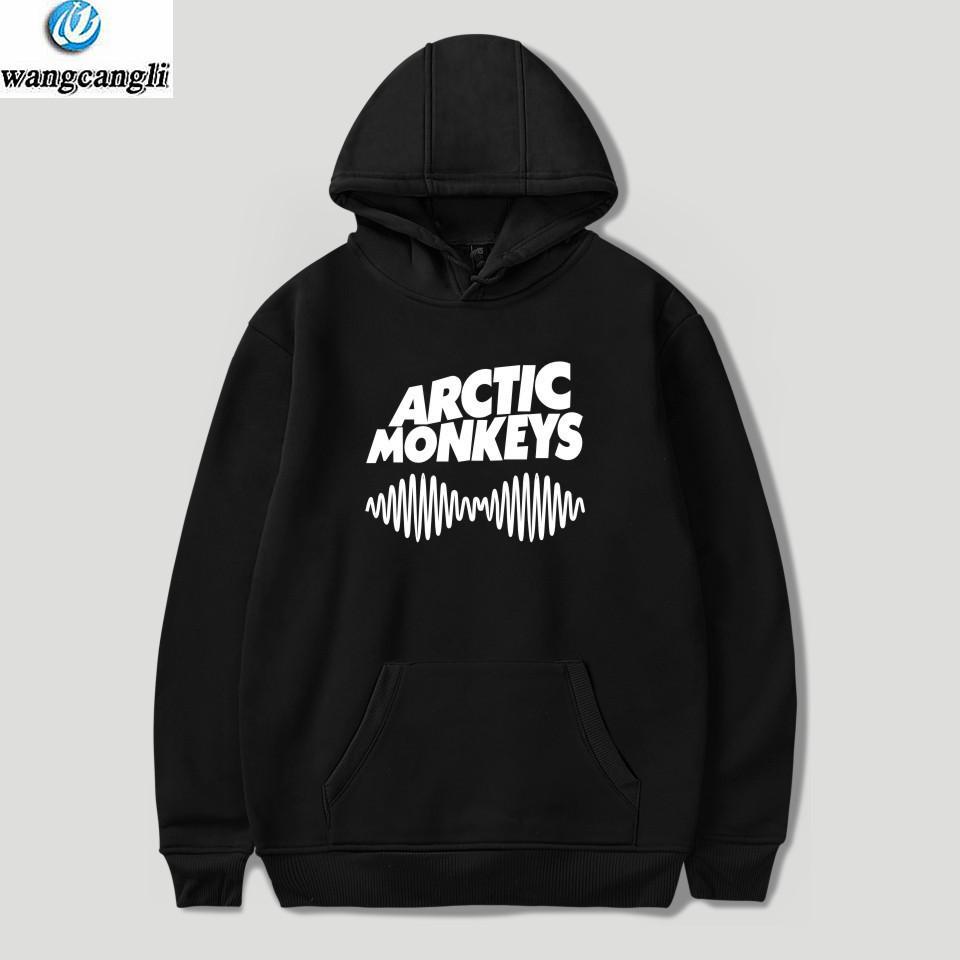 Acquista 2018 Moletom Felpa Con Cappuccio Arctic Monkeys Lettera Stampa  Felpe Con Cappuccio Completo Autunno Inverno Harajuku O Collo Giacca Nera  Cappotto ... 527f969004aa