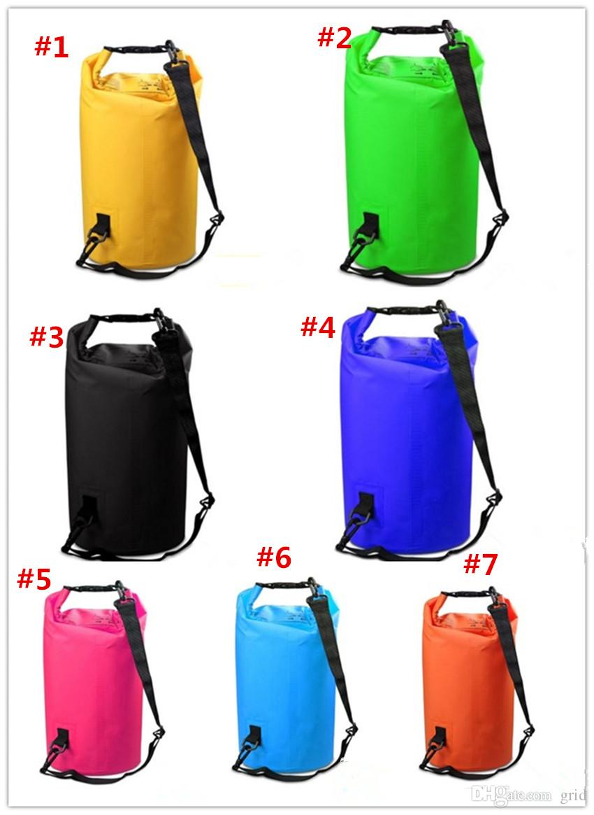 4be6abced8 2019 Sports Outdoor Camping Travel Portable 2L 5L 10L 15L 20L 30L  Prefesional Outdoor Swimming Camping Finshing Waterproof Bag Storage Dry Bag  From Grid
