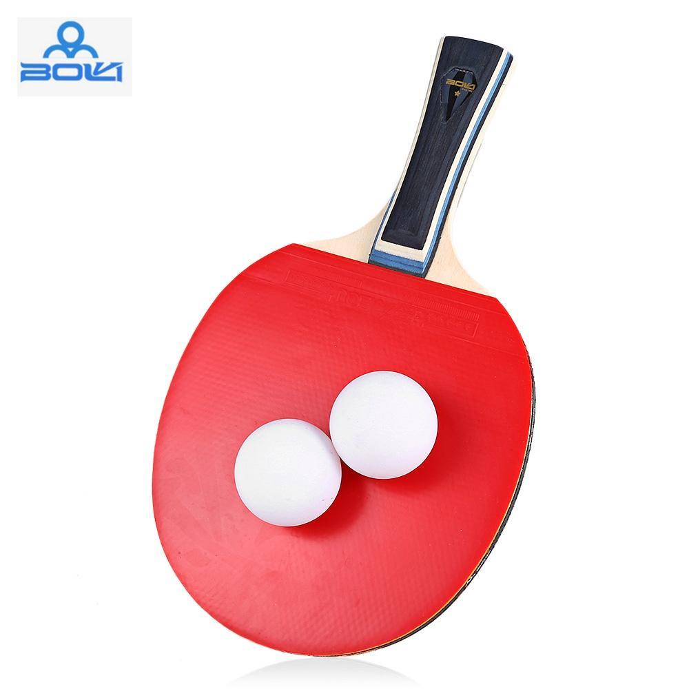 22ed8ecab Compre BOLI Uma Estrela Ténis De Mesa Ping Pong Conjunto Raquete Longo  Punho Ou Alça Curta Raquetes De Tênis De Mesa Ping Pong Paddle Raquete De  Tênis De ...