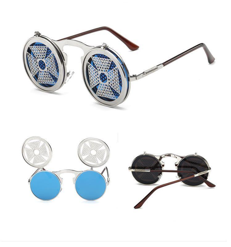 Gafas de sol de gafas de sol de gafas de sol de metal de metal con telaraña más forma gafas de sol frescas al por mayor gafas al por mayor