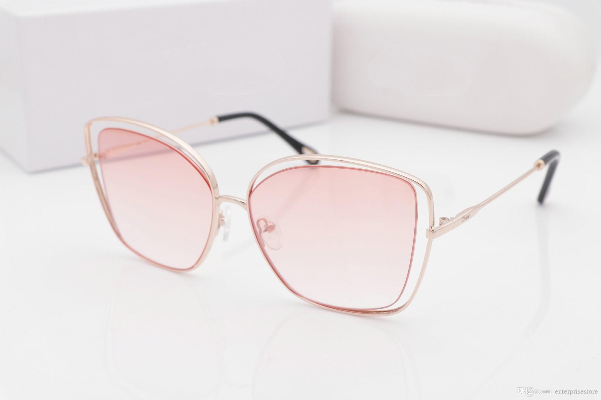 8172d18d03c52 Compre 20060 Óculos De Sol Populares Mulheres De Luxo Design De Marca 3864s  Estilo De Verão Redondo Estilo Completo Proteção Uv De Alta Qualidade Cor  Mista ...