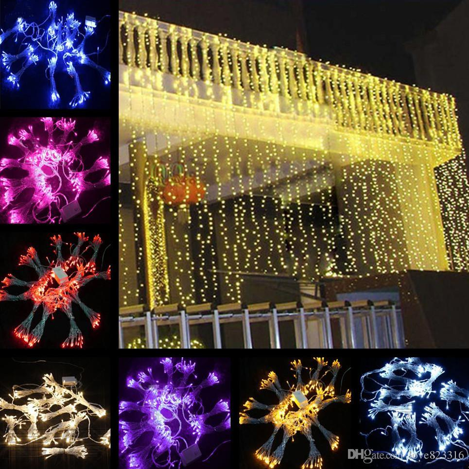 10*3m 1000led Led Curtain String Fairy Light Xmas Christmas Wedding ...