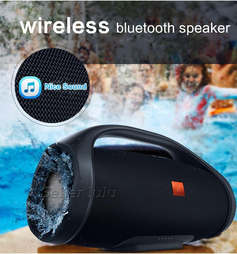Bom Som Boombox Bluetooth Speaker Subwoofer de ALTA FIDELIDADE 3D Subwoofer Handsfree Subwoofers Estéreo Portátil Ao Ar Livre Com Caixa De Varejo