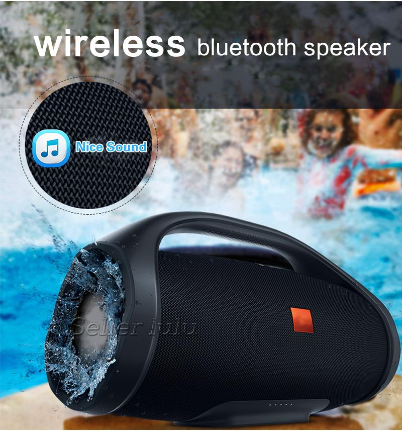 Nice Sound Boombox Bluetooth Speaker Stere 3D HIFI Subwoofer Handsfree Outdoor Portable Stereo Subwoofers With Retail Box
