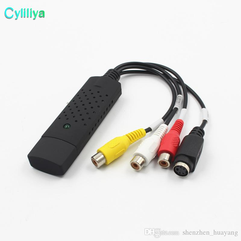 High Quality 64Bit Support Easy Cap USB 2 0 Video Audio VHS to DVD  Converter CVBS S-VIDEO Capture Card Adapter