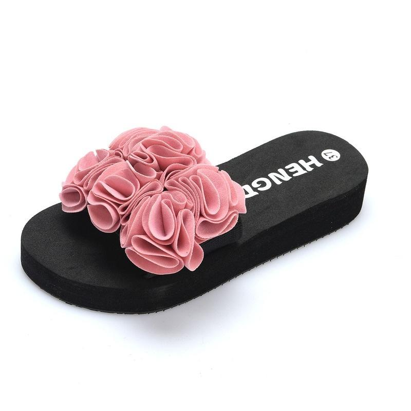 e4b6f5dbf Beach Slippers Ladies Flat with Fashion Flower Sandals Female Handmade  Summer Sandals Slippers Causalslipper Online with  16.46 Piece on Xiuyi03 s  Store ...